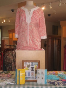 Shoshanna V-neck Cover-up in Pink Zebra
