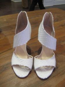Loeffler Randall Genevieve Sandals in Calfskin White