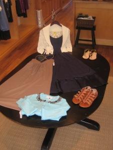 Theory Madge Maxi Dress and Susan Monaco Poolside String Dress