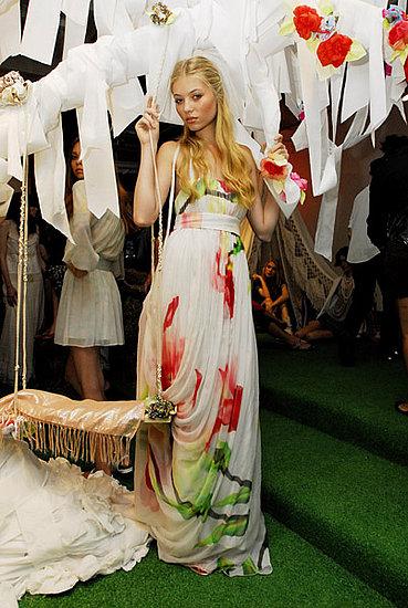 Alice + Olivia Perfectly Iris Side Drape Dress, $495.00
