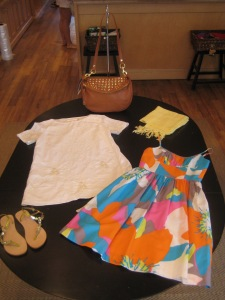 Karta Tart Shift Dress, Trina Turk Amalfi Dress and Rebecca Minkoff Supernova Stud Roadie Handbag