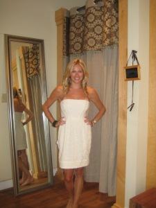 Yes, that's me trying on dresses at Urban Chic Georgetown!