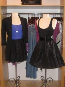 Vince 3/4 Sleeve Boyfriend Jacket, Alice + Olivia Short Lace Skirt and Alice + Olivia Tank Dress with Chain Belt