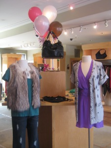Rebecca Taylor Fur Vest, Rory Beca Wrap Dress with Belt and Rebecca Taylor Wildcat Cardi