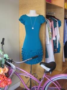 Catherine Malandrino Short Sleeve Dress with Ruffle Detail