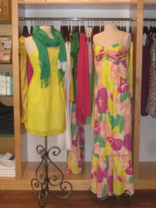 Shoshanna Strapless Pleat Dress and Twist Empire Maxi Dress