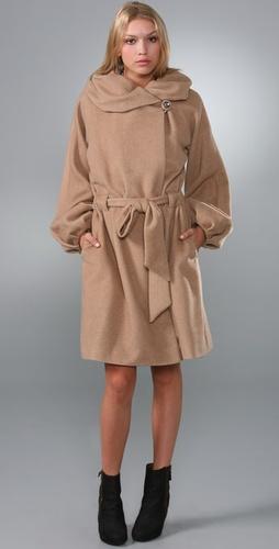 Rebecca Taylor Blanket Wrap Coat