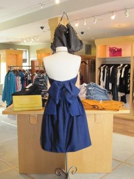 Shoshanna Bow Back Strapless Dress, Back View