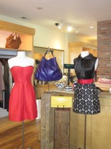 Shoshanna Multi-Stitch Strapless Dress and Alice + Olivia Front Tie Dress with Belt