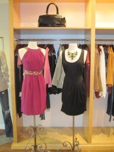 Shoshanna Paper Bag Halter Dress and Ali Ro Ponte Zip Jumper