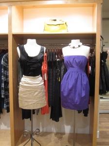 Diane von Furstenberg Imara Top and Jakun Skirt and Shoshanna Strapless Mini Dress