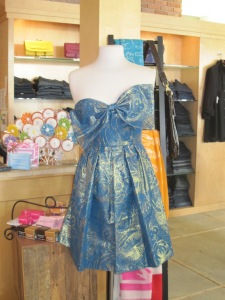 Rebecca Taylor Metallic Paty Dress
