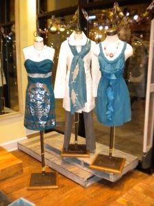 Voom Neema Dress, Virginia Johnson Marino Wool Shark Scarf and Rebecca Taylor Tie Me Up Dress