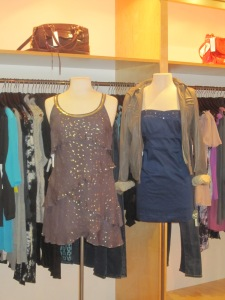 Free People Layer Tier Dress and Solid Sparkle Strapless Dress