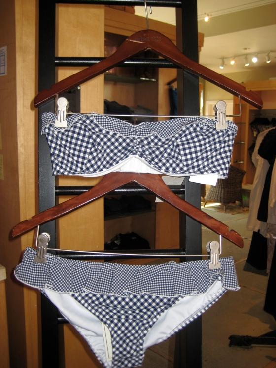 Gingham Bikini top ($125.00) and Bottoms ($75.00)