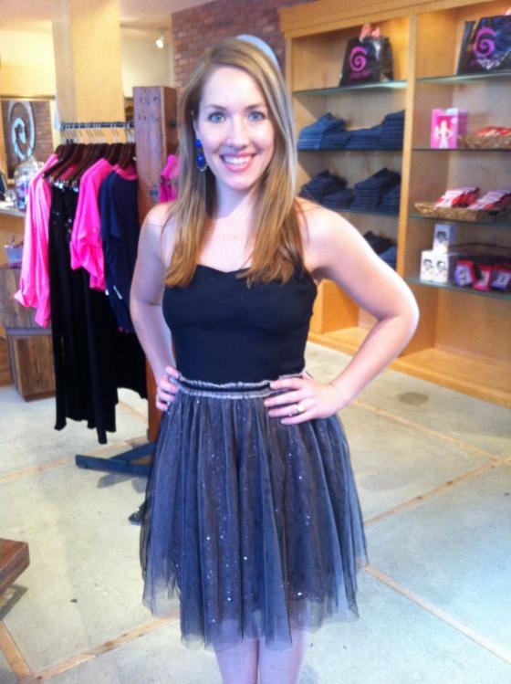 Jen is wearing: Greylin, Dolce Dress in Black, $156.